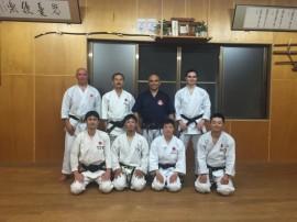 Ohana Sensei, après un cours de Karaté
